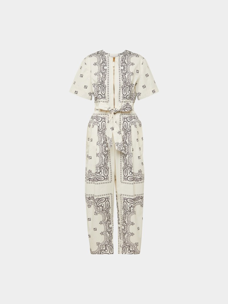 Tory Burch Jumpsuit mit Allover-Muster Weiß - 1