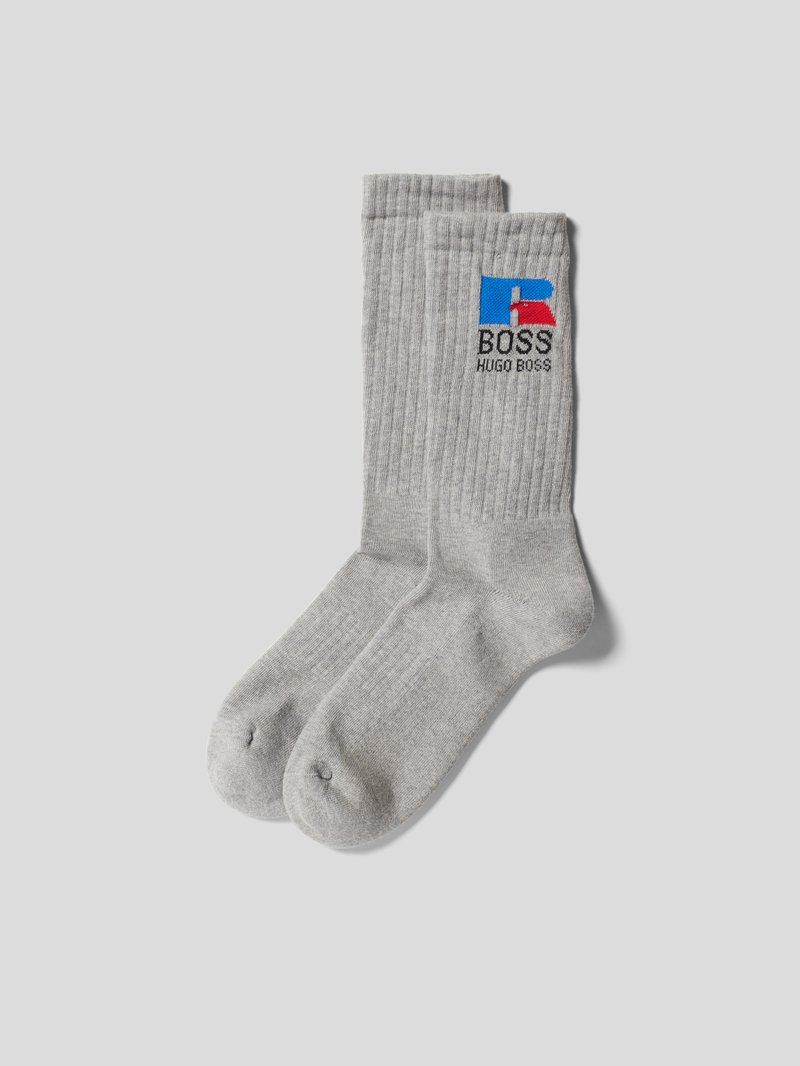 BOSS x Russell Athletic Socken mit Label-Stitching Silber - 1