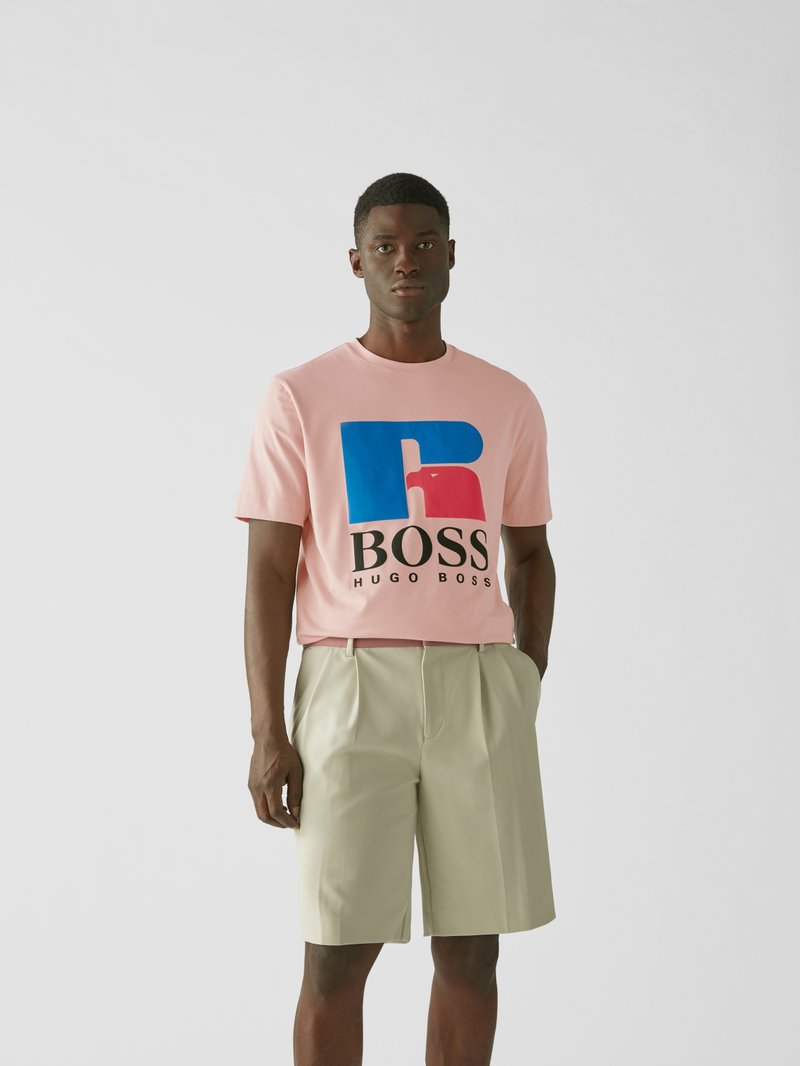 BOSS x Russell Athletic T-Shirt mit Print Pink - 1