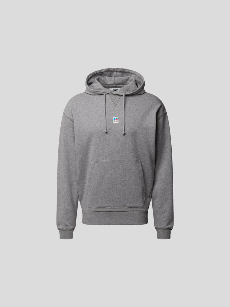 BOSS x Russell Athletic Hoodie mit Label-Patch Grau - 1