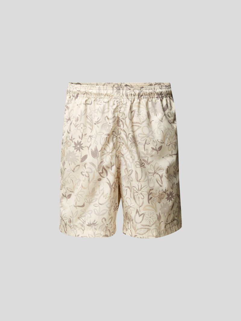 Jacquemus Badehose mit Allover-Muster Beige - 1