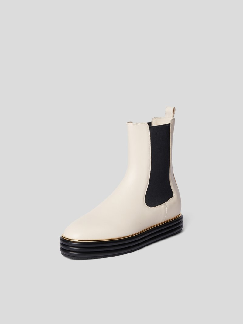Bally Chelsea Boots mit Applikation Beige - 1