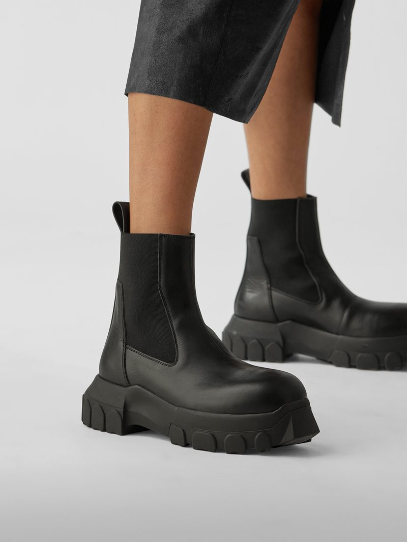 Rick Owens Chelsea Boots mit Plateau in Braun - 1
