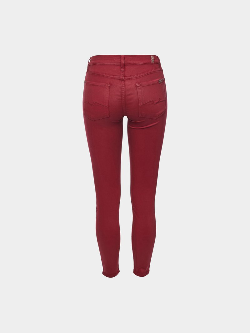 7 for all Mankind The Skinny Crop Pants Bordeaux Rot - 1
