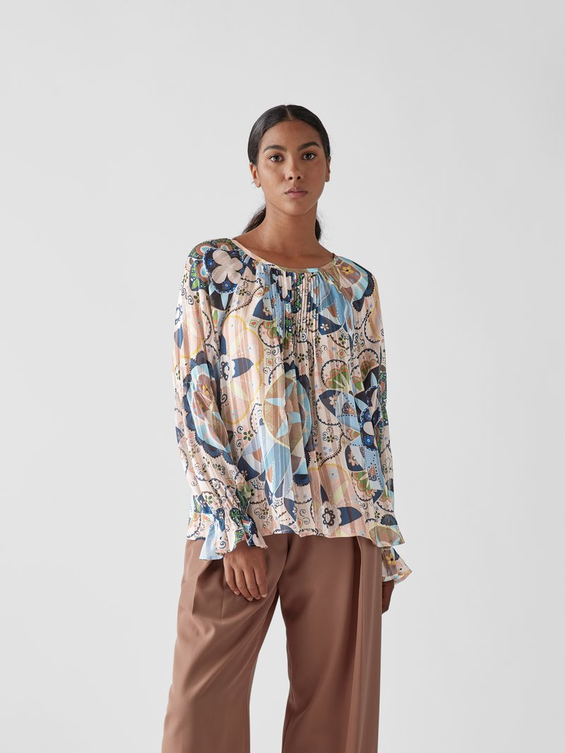 See by Chloé Bluse mit floralem Muster Hellrosa - 1