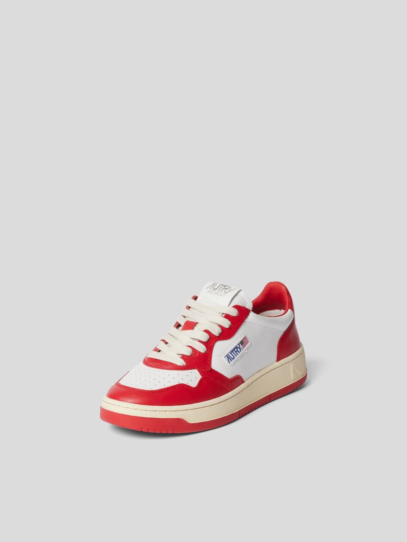 Autry Sneaker mit Label-Patch Rot - 1