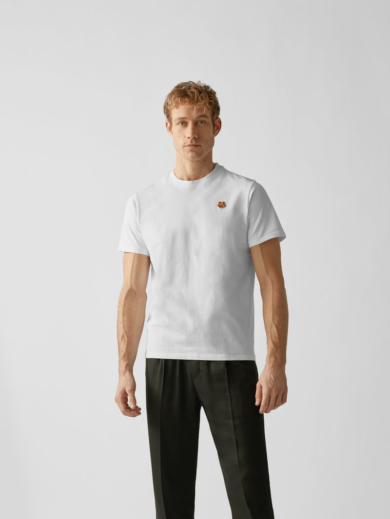 Kenzo T-Shirt mit Label-Patch Offwhite - 1