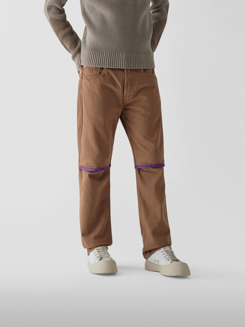 Jacquemus Jeans im Relaxed Fit Mittelbraun - 1