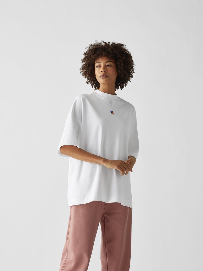 BOSS x Russell Athletic Oversized T-Shirt Weiß - 1