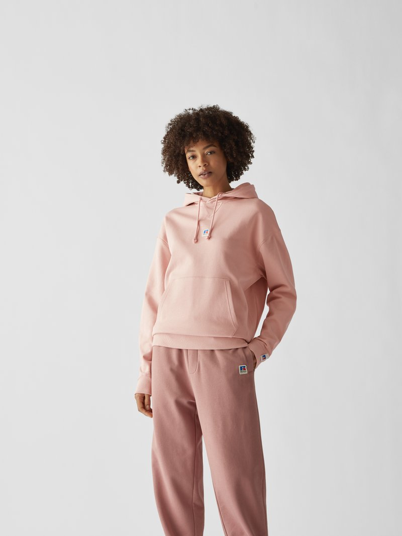 BOSS x Russell Athletic Hoodie mit Brand-Detail Pink - 1