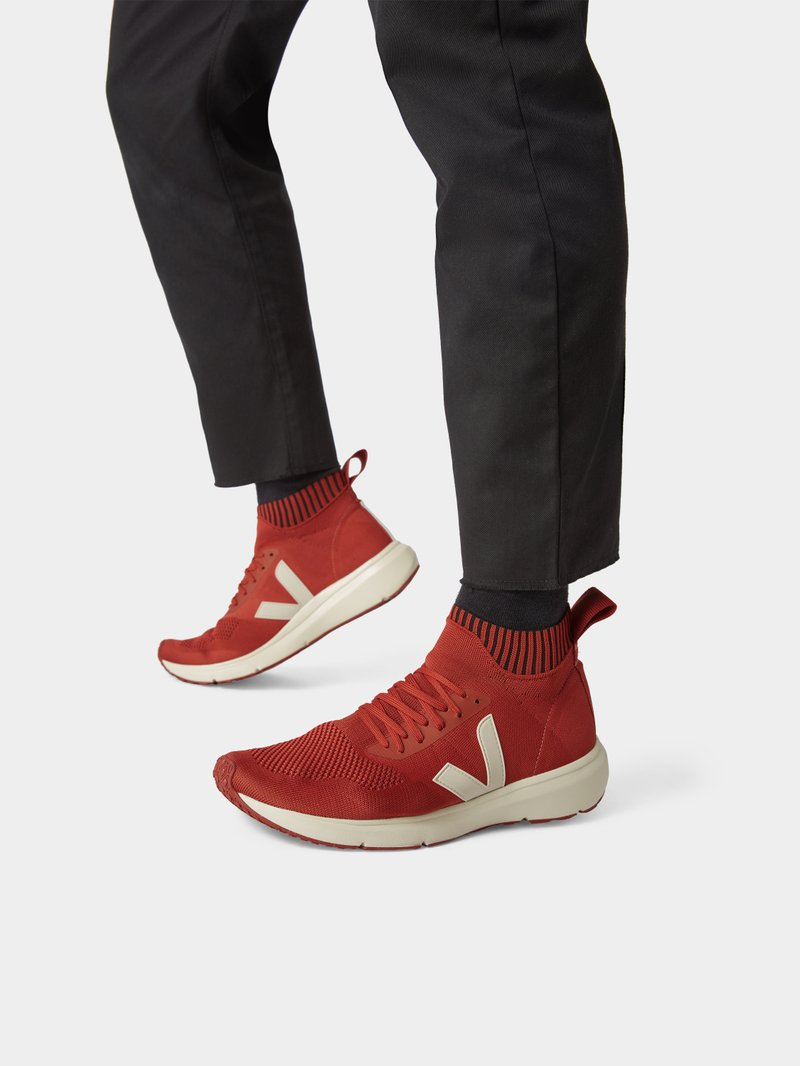 Rick Owens Sock-Sneaker mit Schnürsenkeln in Orange - 1