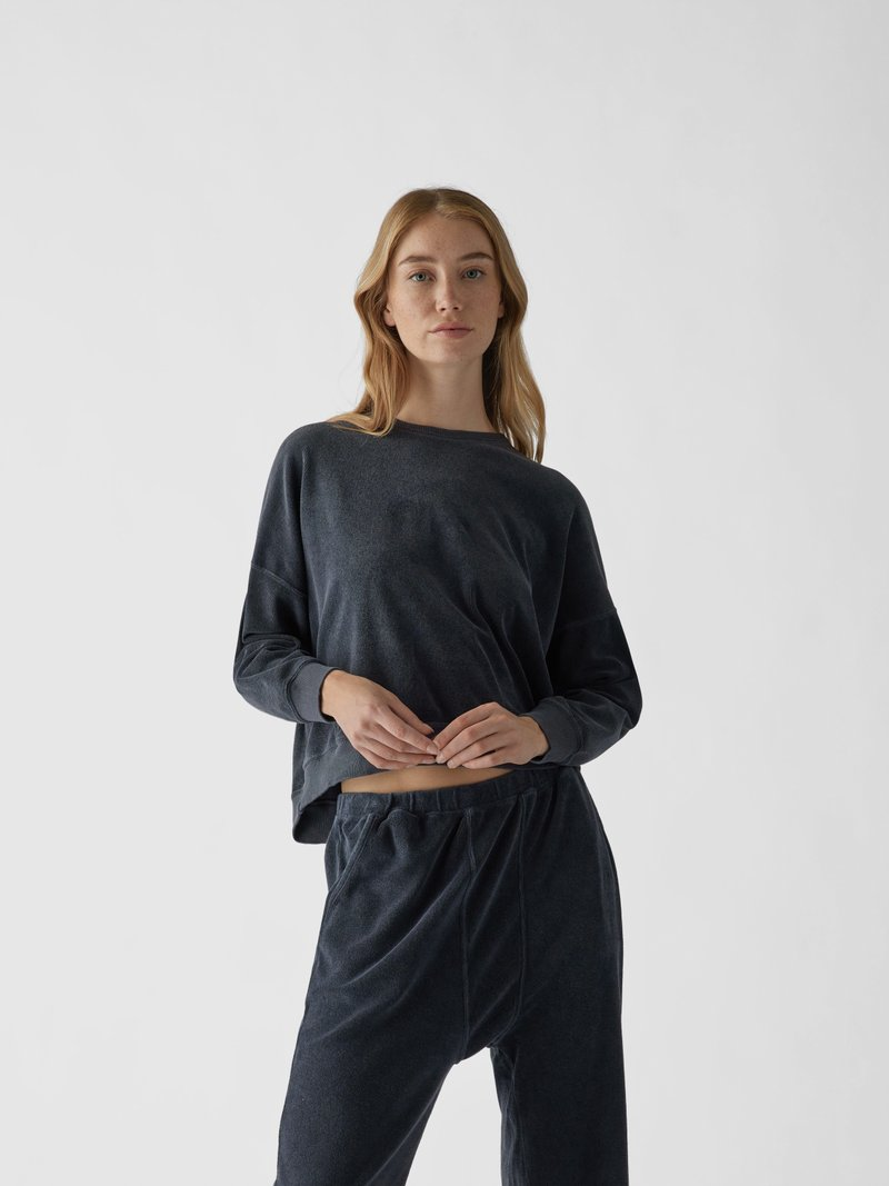 The Great Pullover aus Frottee Dunkelblau - 1