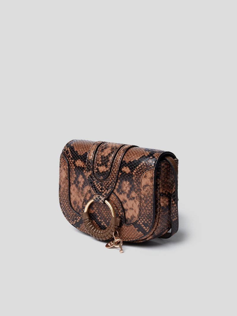 See by Chloé Crossbody Bag in Reptil-Optik Braun - 1