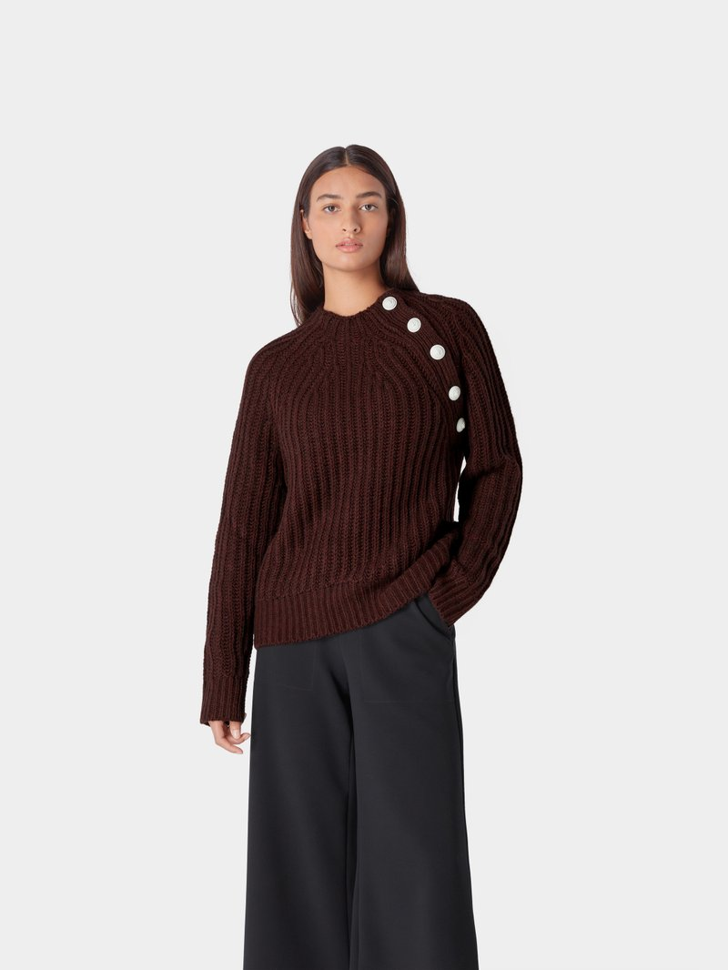 Zadig & Voltaire Pullover mit Knopf-Details Bordeaux Rot - 1