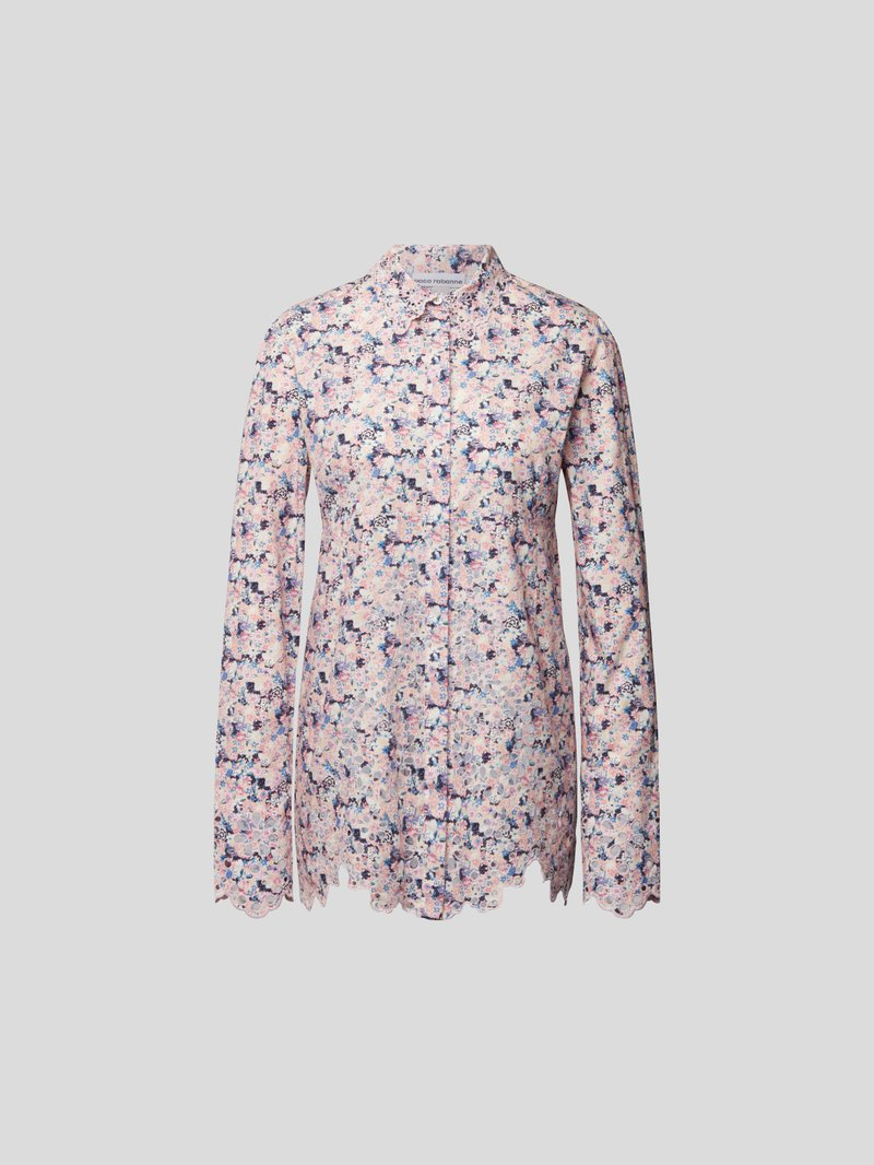 Paco Rabanne Longbluse mit floralem Muster - 1