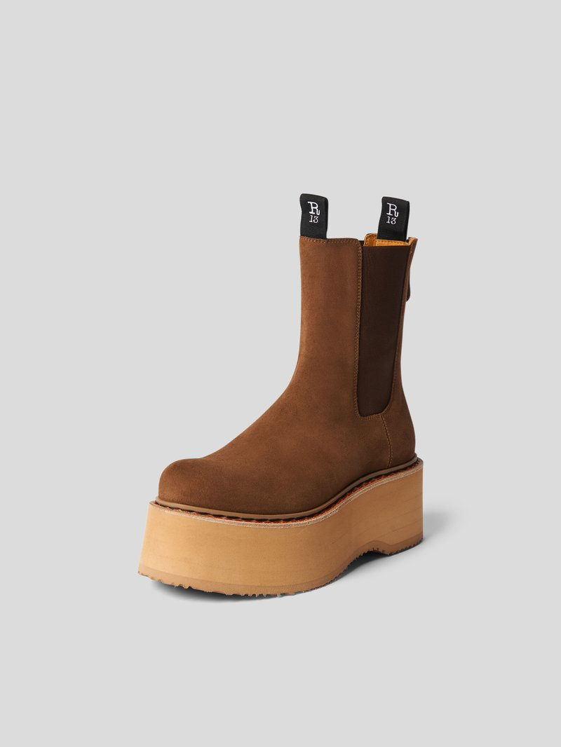 R13 Chelsea Boots mit Plateausohle Braun - 1