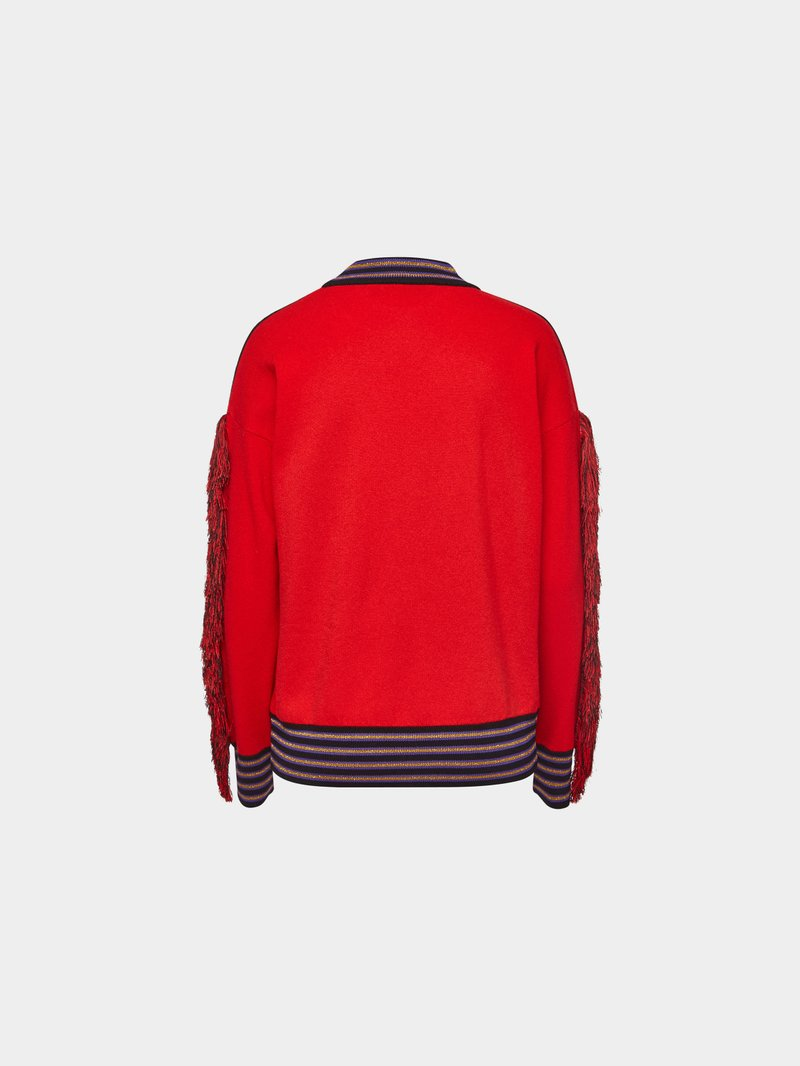 Versace Pullover mit Wolle Rot - 1