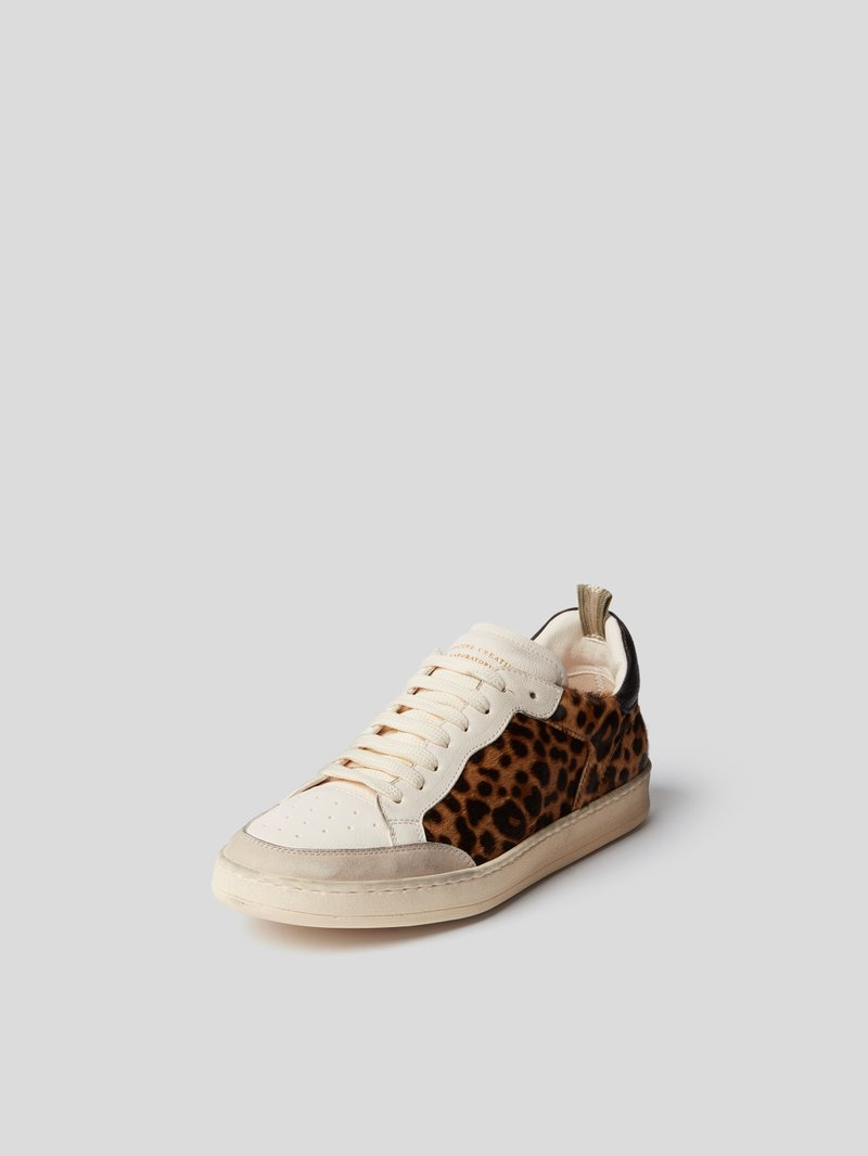 Officine Creative Sneaker mit Animal-Print Braun - 1
