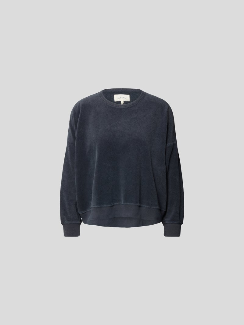 The Great Pullover aus Frottee Blau - 1