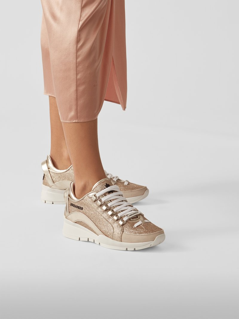 Dsquared2 Sneaker mit Brand-Details in Gold - 1