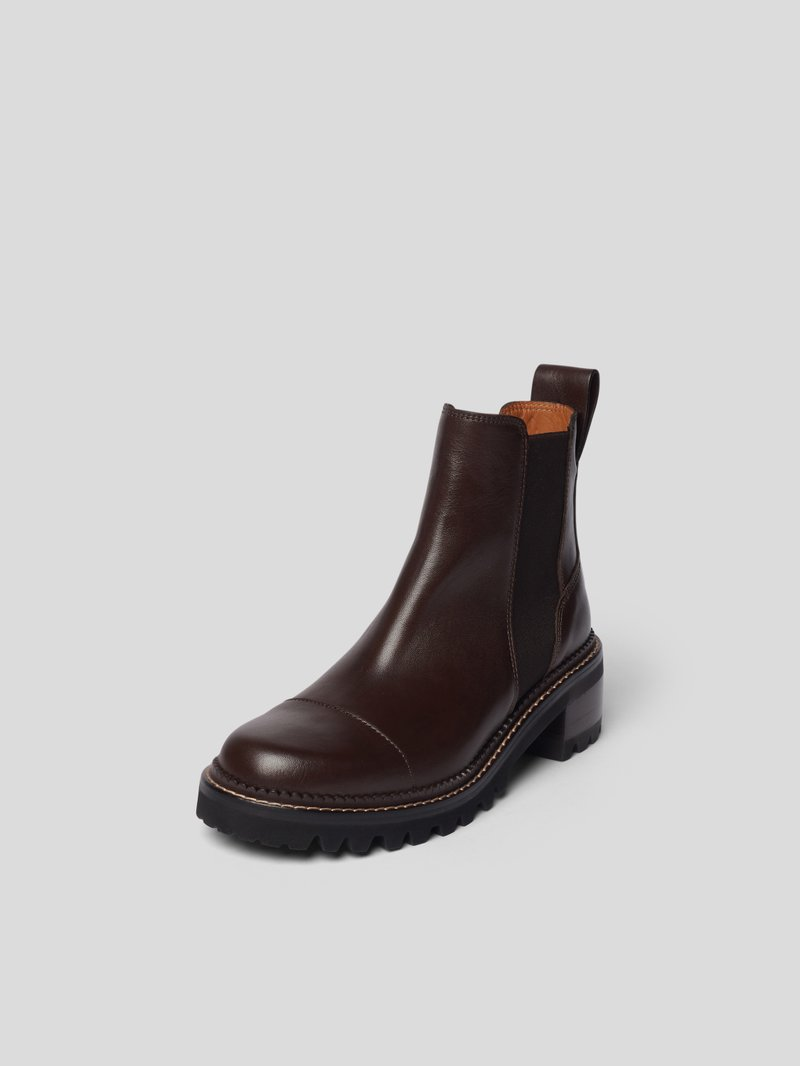 See by Chloé Chelsea Boots mit Brand-Detail Braun - 1