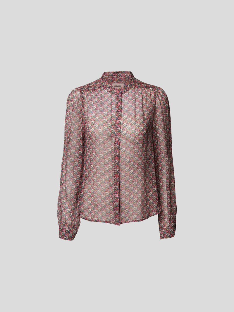 Zadig & Voltaire Bluse mit Allover-Muster Rosa - 1