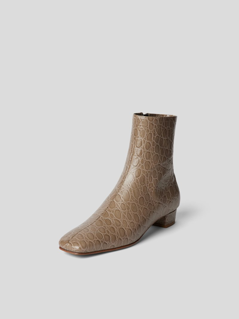 BY FAR Ankle Boots in Reptil-Optik Beige - 1