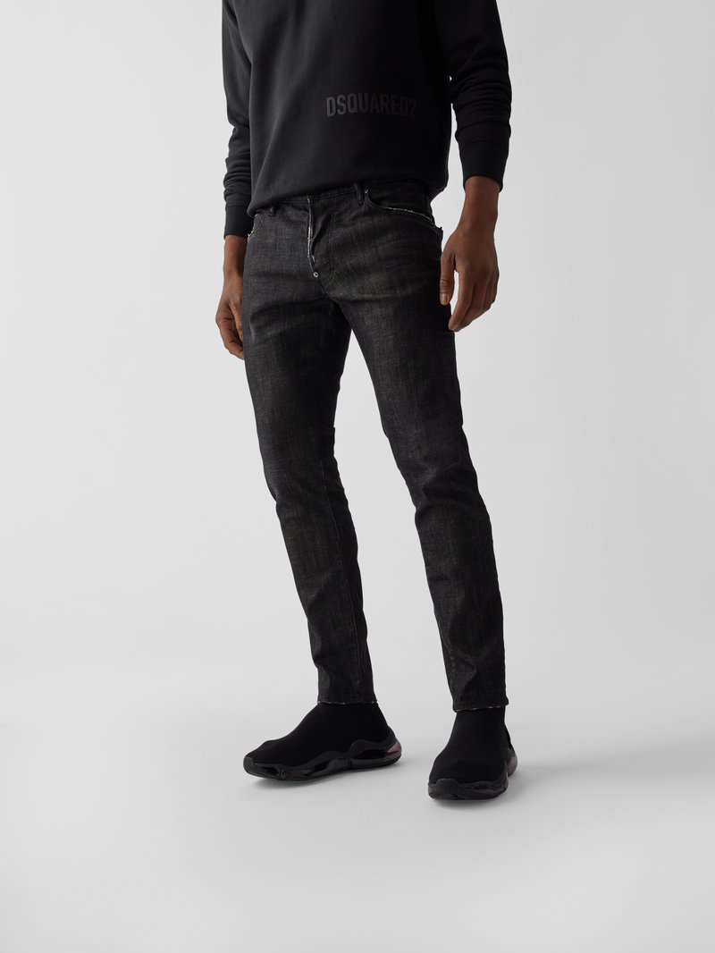Dsquared2 Straight Fit Jeans Schwarz - 1