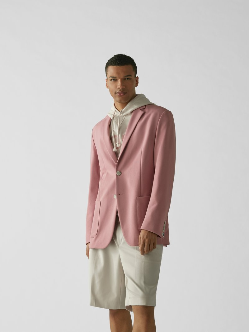 BOSS x Russell Athletic Sakko mit Kissing Buttons Pink - 1