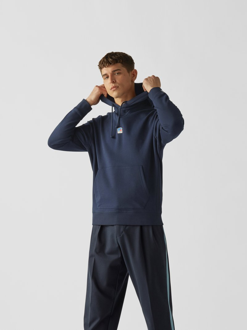 BOSS x Russell Athletic Hoodie mit Label-Patch Dunkelblau - 1