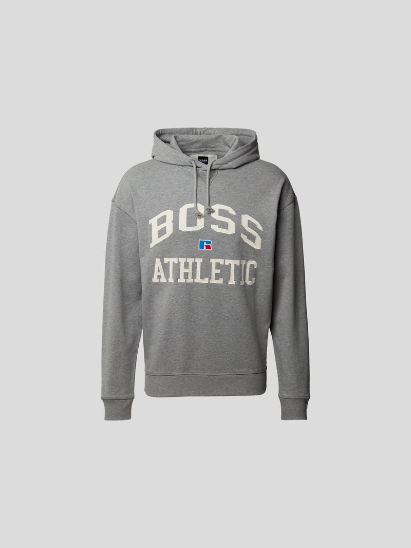 BOSS x Russell Athletic Hoodie mit Label-Stitching Grau - 1