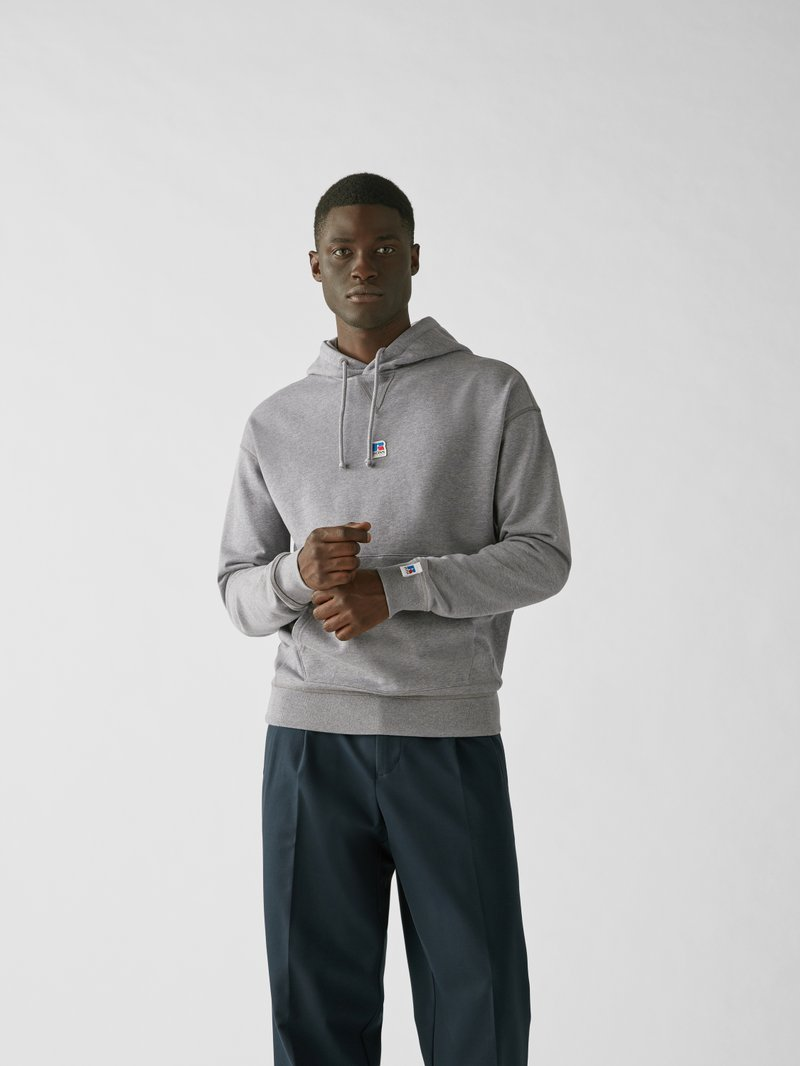 BOSS x Russell Athletic Hoodie mit Label-Patch Hellgrau - 1