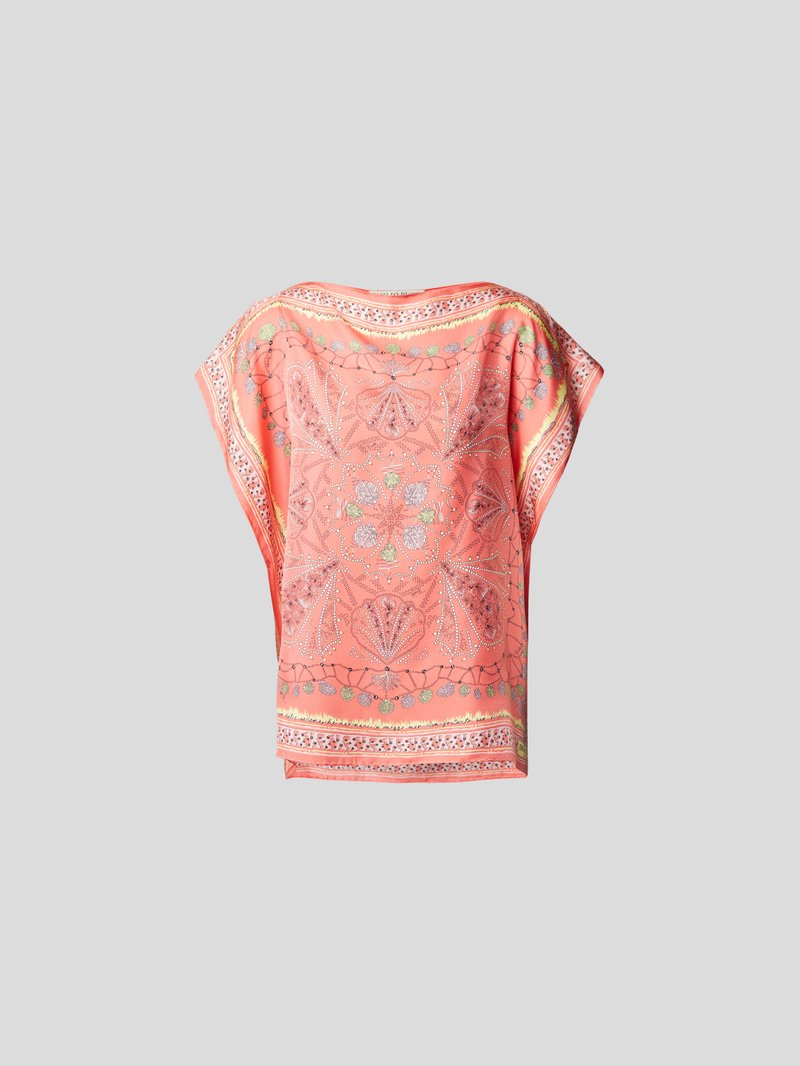 Emilio Pucci T-Shirt mit Allover-Muster Rot - 1