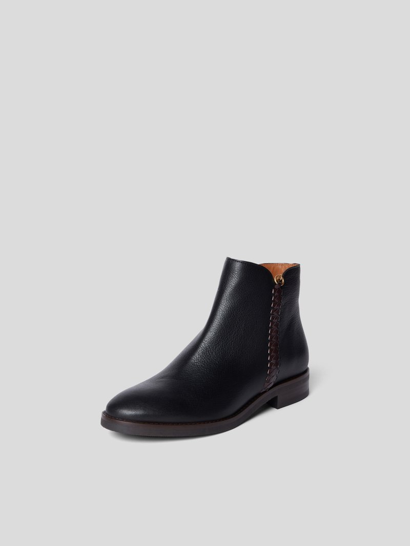 See by Chloé Ankle Boots mit Ziernaht Schwarz - 1