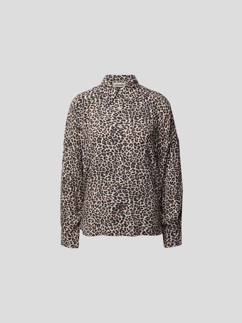 Zadig & Voltaire Bluse mit Animal-Print Rot - 1