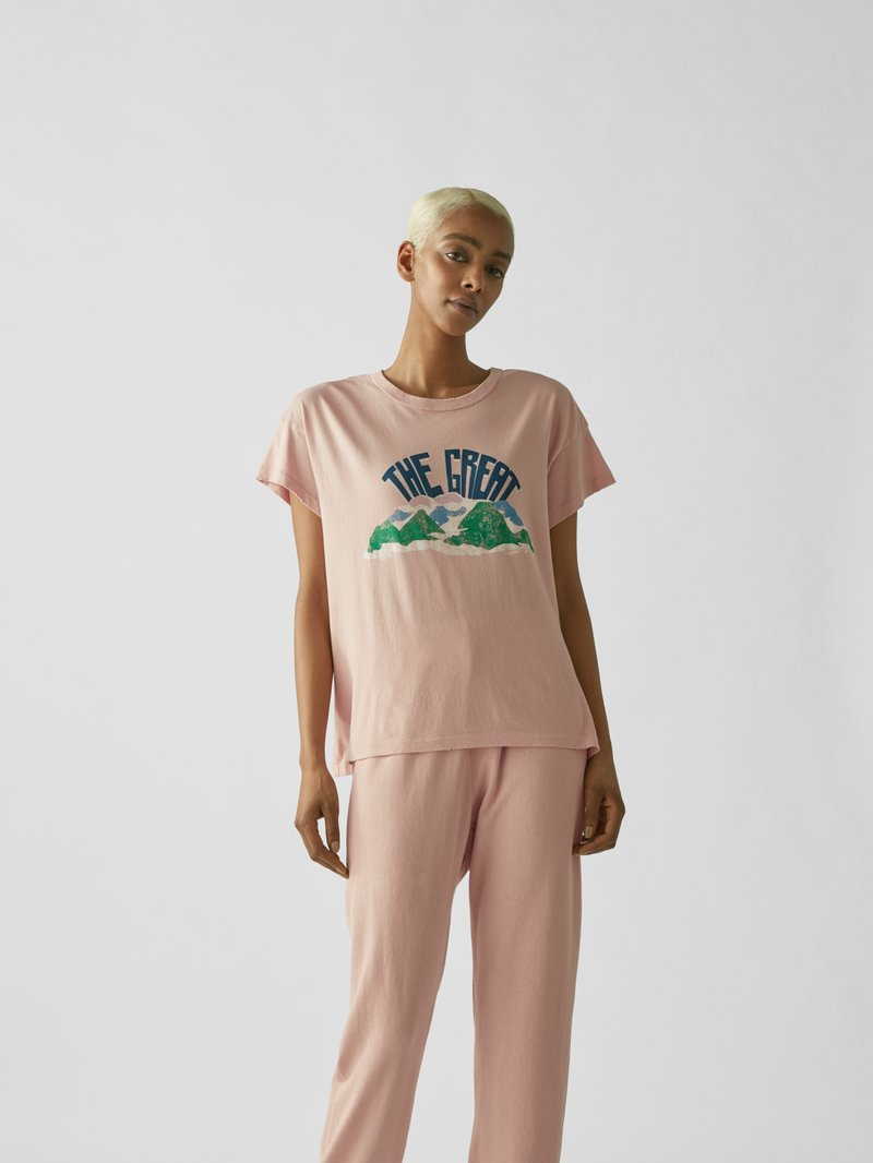 The Great T-Shirt mit Print Pink - 1