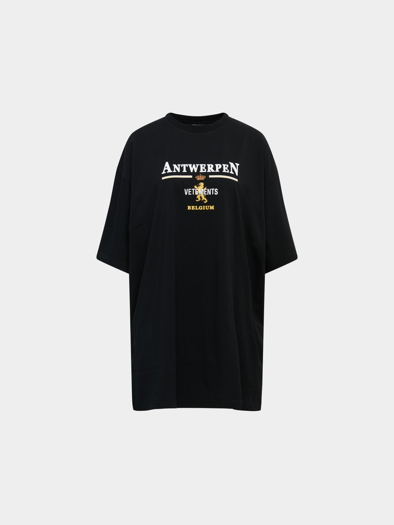 VETEMENTS T-Shirt mit Label-Print Schwarz - 1