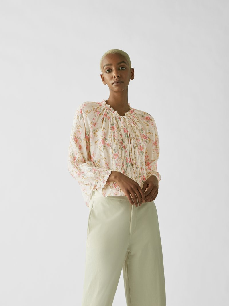 The Great Bluse mit Allover-Muster Pink - 1