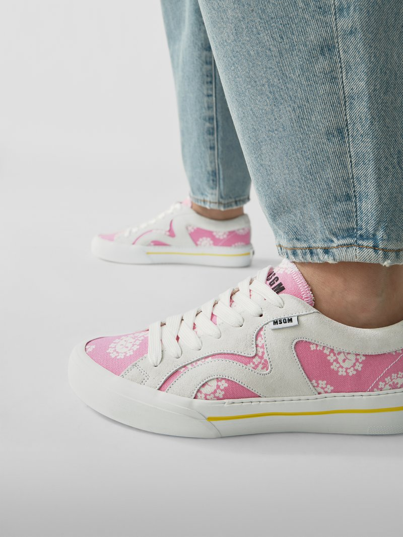 MSGM Sneaker mit Plateausohle in Rosa - 1