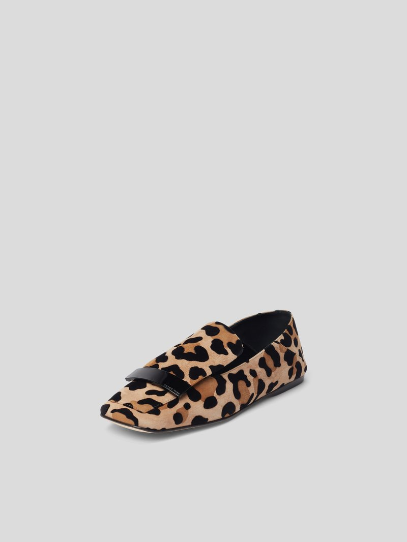 Sergio Rossi Penny-Loafer mit Animal-Print Beige - 1