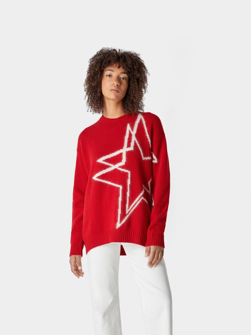 No21 Oversized Strickpullover Rot - 1