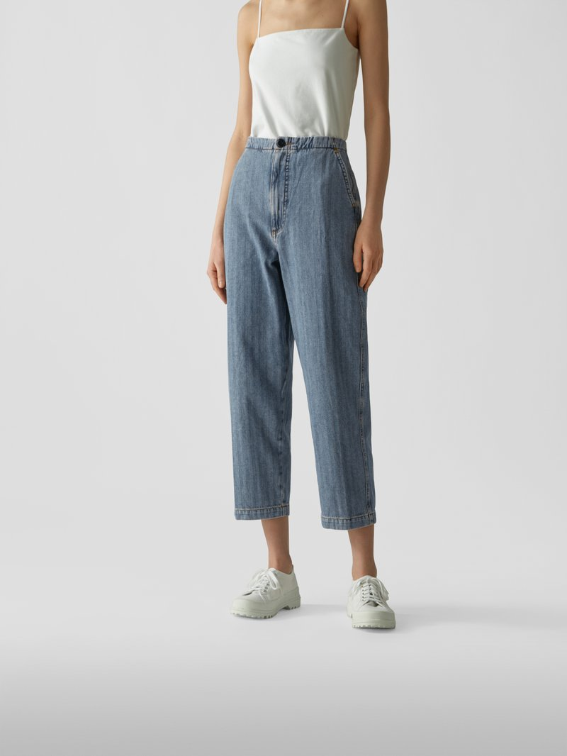 The Great Cropped Jeans Hellblau - 1
