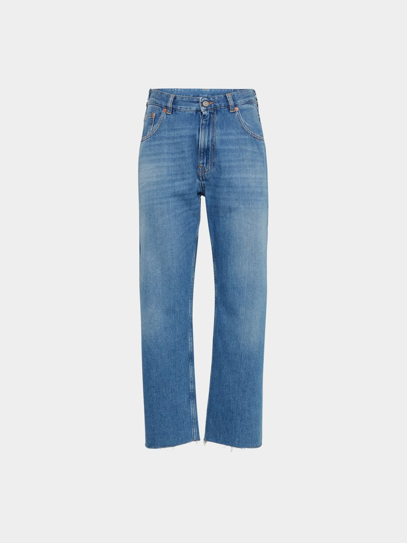 MM6 Maison Margiela Relaxed Fit Jeans im Used-Look Blau - 1