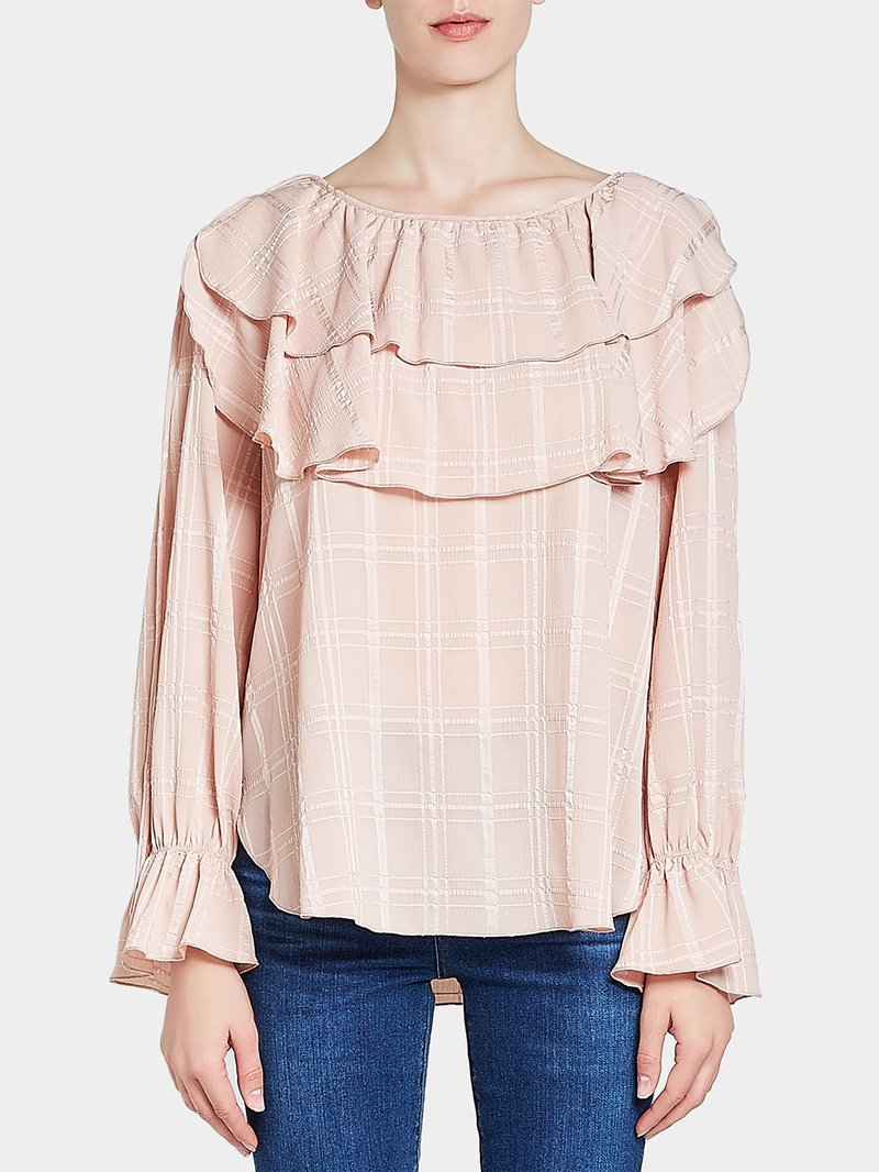 See by Chloé Bluse mit Volants Rosa - 1