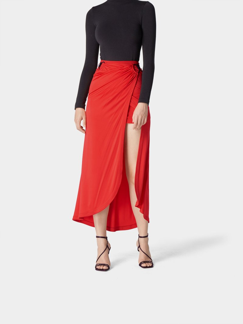 Paco Rabanne Rock im Layer-Look Rot - 1