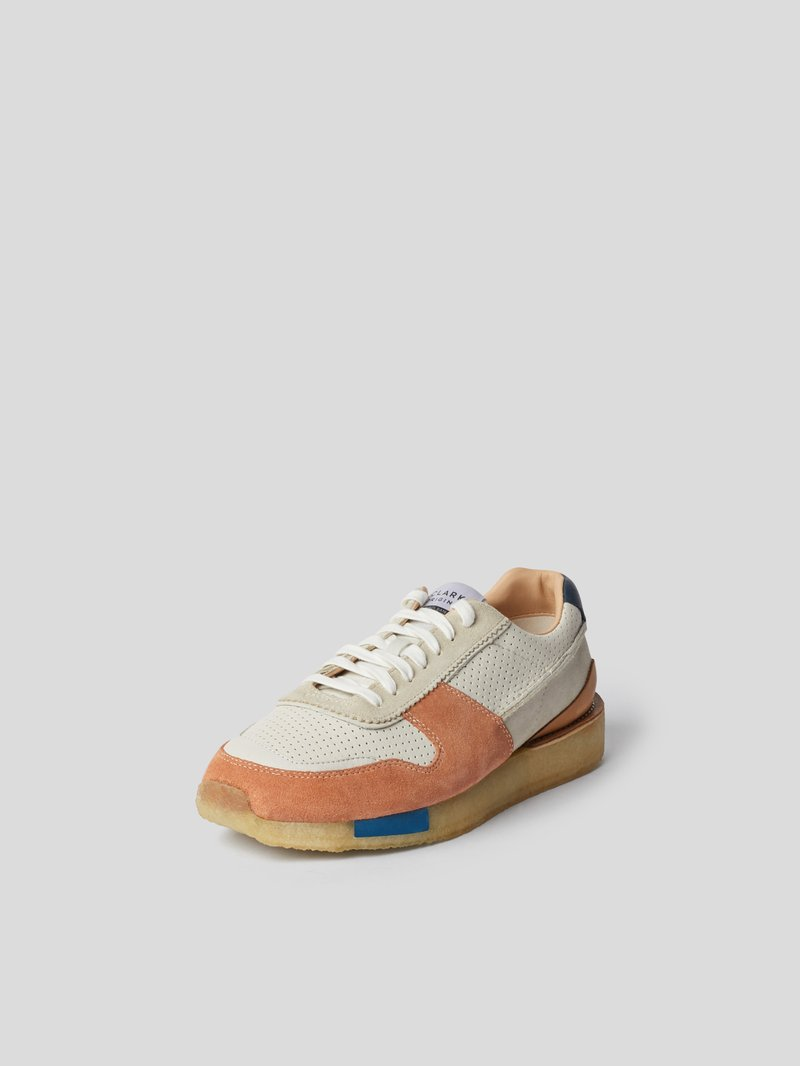 Clarks Sneaker mit Material-Mix Rot - 1
