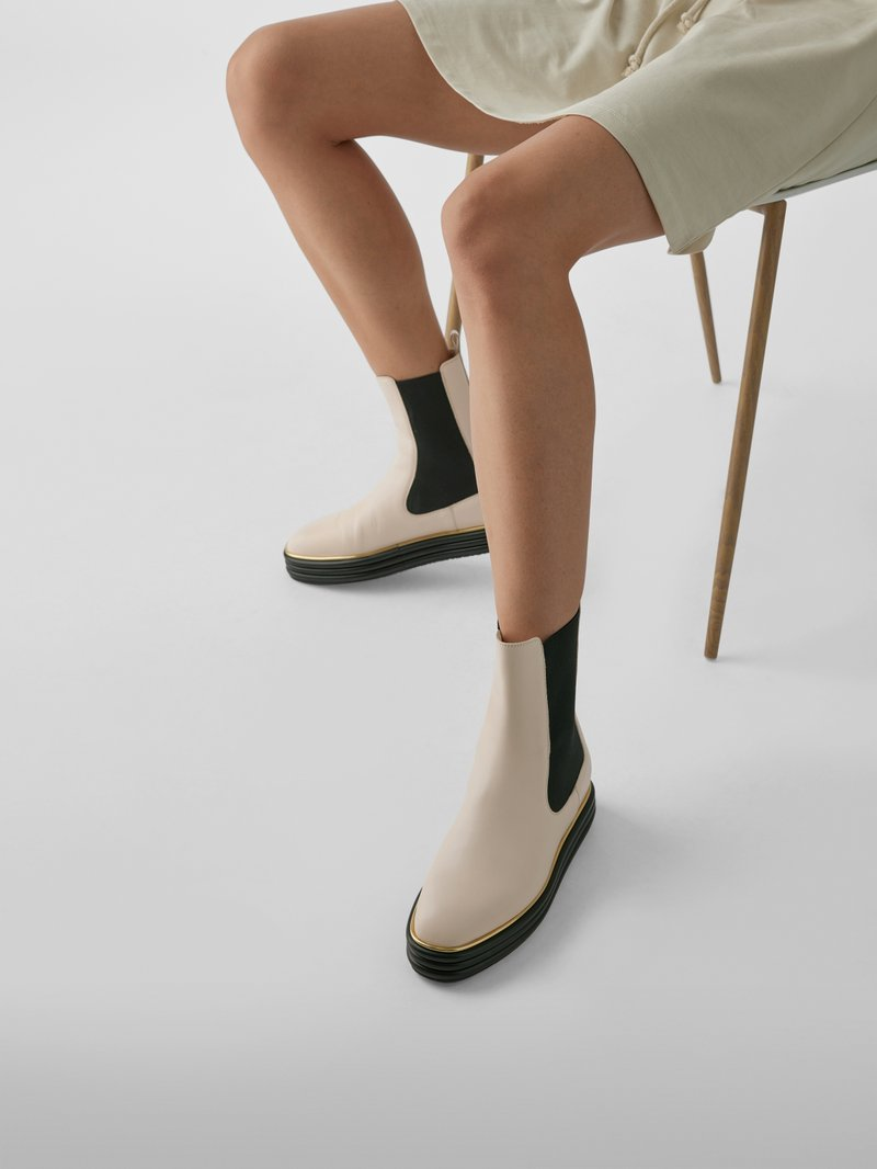 Bally Chelsea Boots mit Applikation in Beige - 1