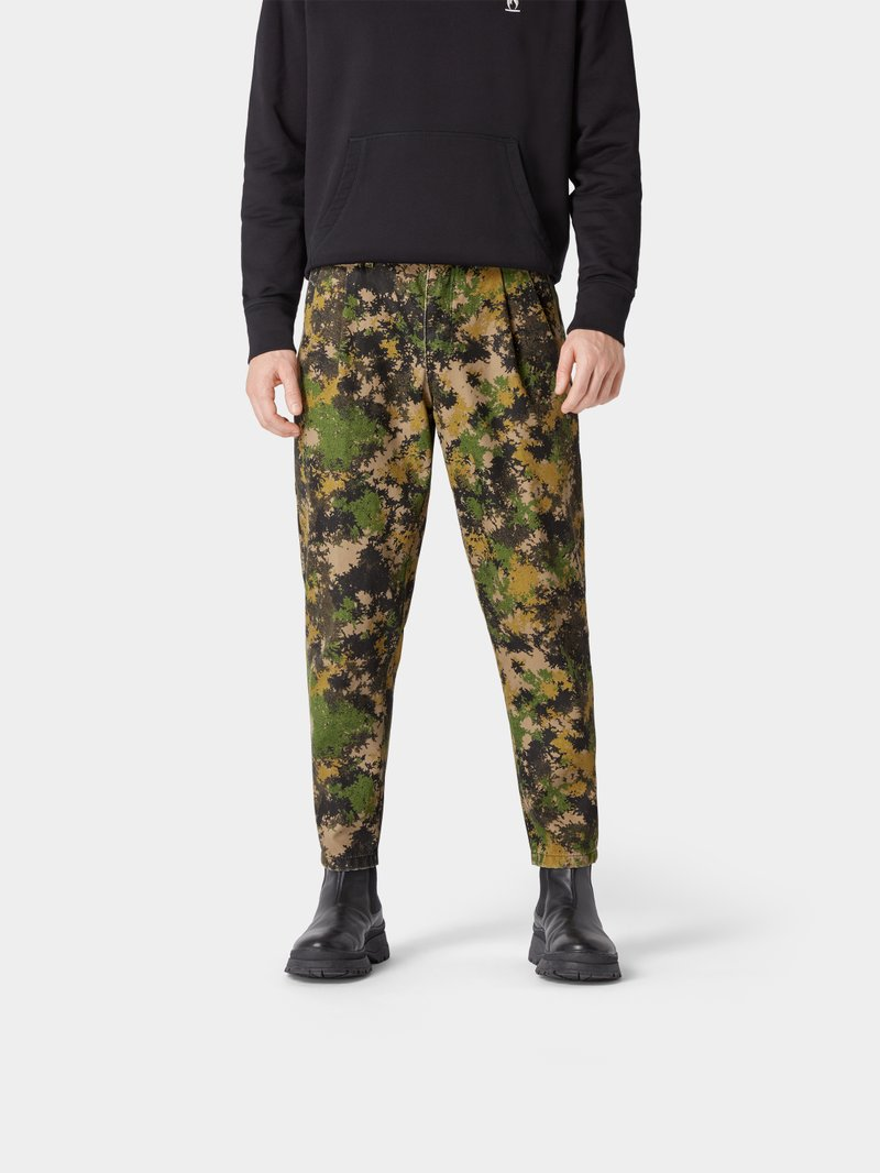 2DY4 Drykorn 2DY4 Hose mit Camouflage-Muster Olivgrün - 1