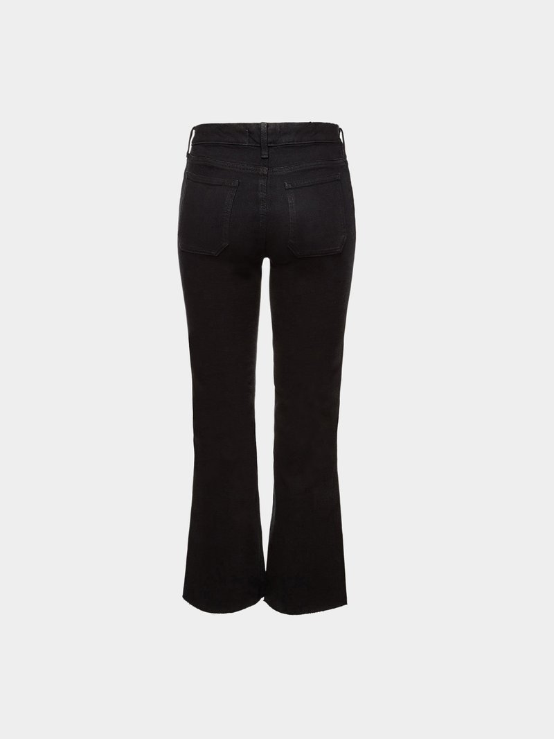 M.i.h Jeans Flared Cropped Jeans Lou Schwarz - 1
