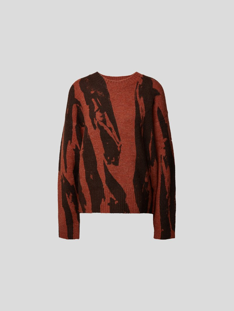 Kenzo Pullover mit Allover-Muster Rot - 1